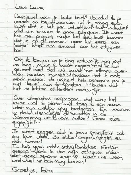 Laura's brieven: Esra en Andrea | Laura denkt