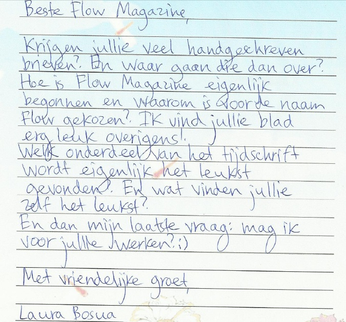 Gala brief schrijven voorbeeld