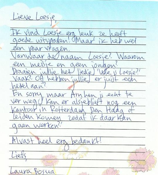 Laura's brieven: Loesje | Laura denkt